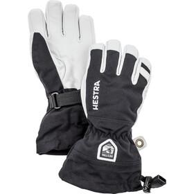 Hestra Army Leather Heli Ski 5 Finger Gloves Kids, zwart